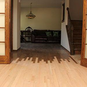 Hardwood Floor Tie-In Repairs by Ryno Custom Flooring Inc.